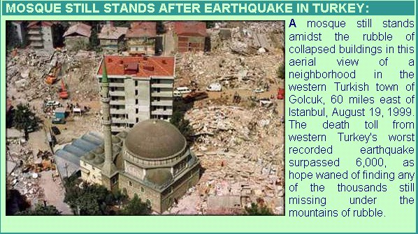 allah[d]mosque stand still after earthquake in Turki