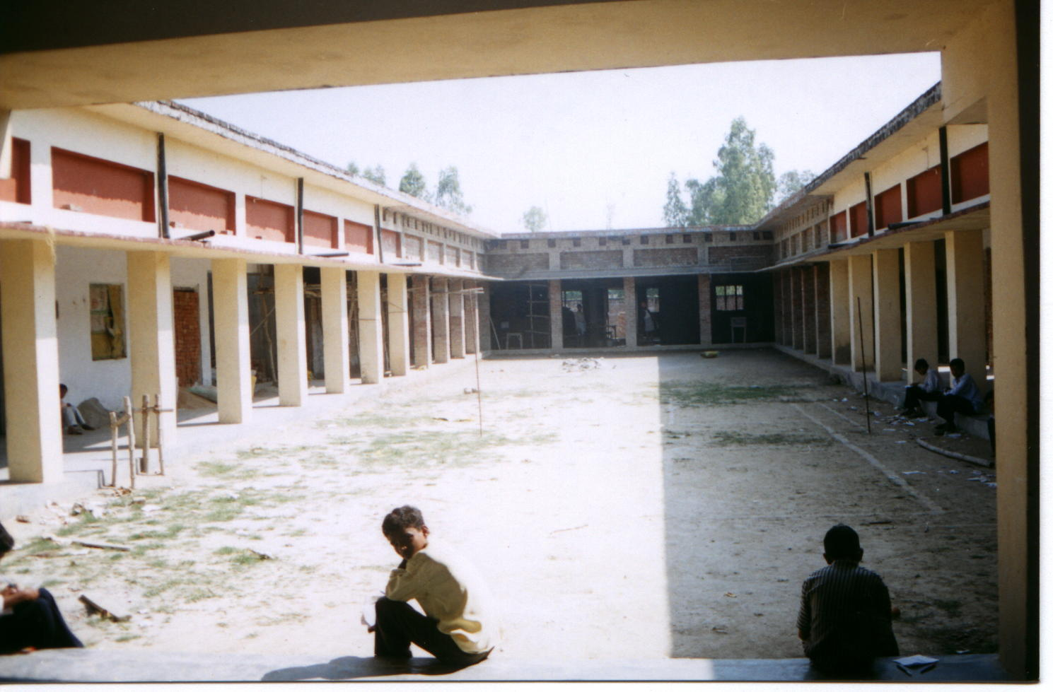 picture shows the inside view of college